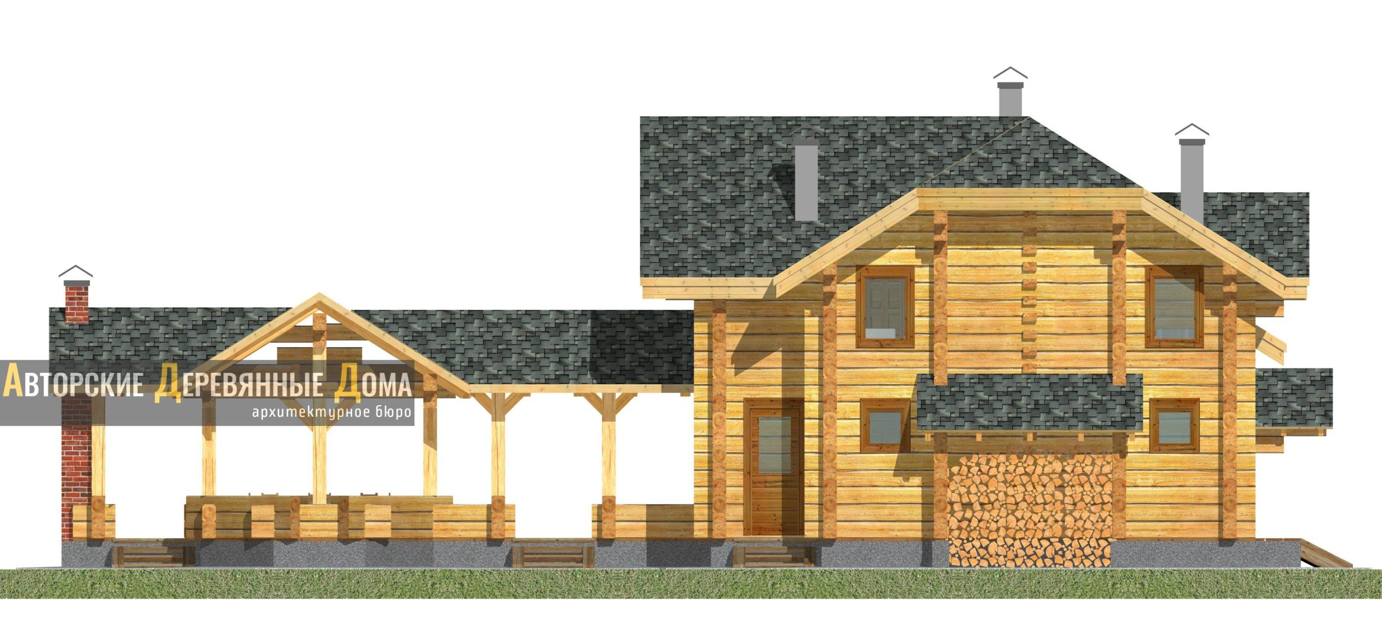 Дом-баня-беседка – фасад 2