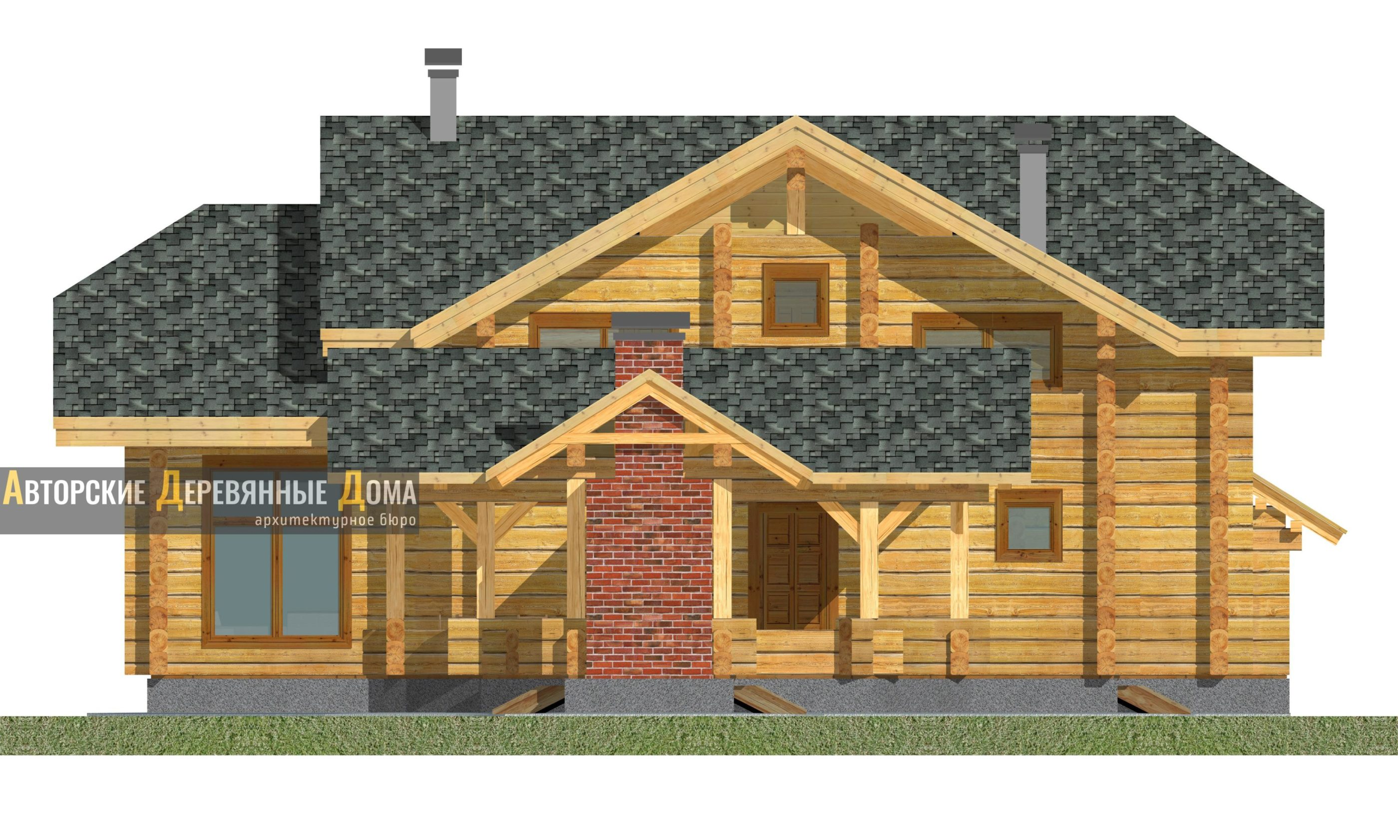 Дом-баня-беседка – фасад 3