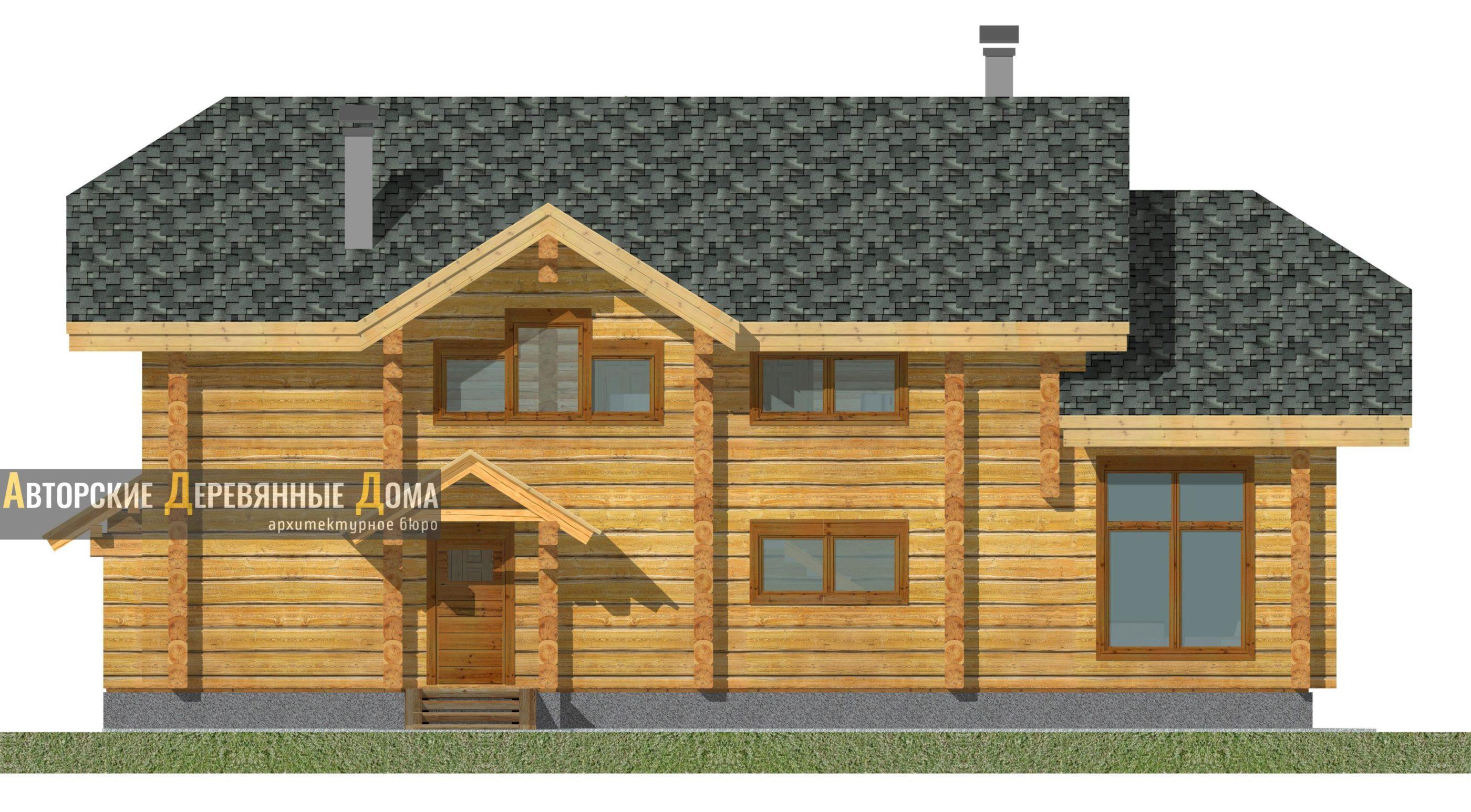 Дом-баня-беседка – фасад 4