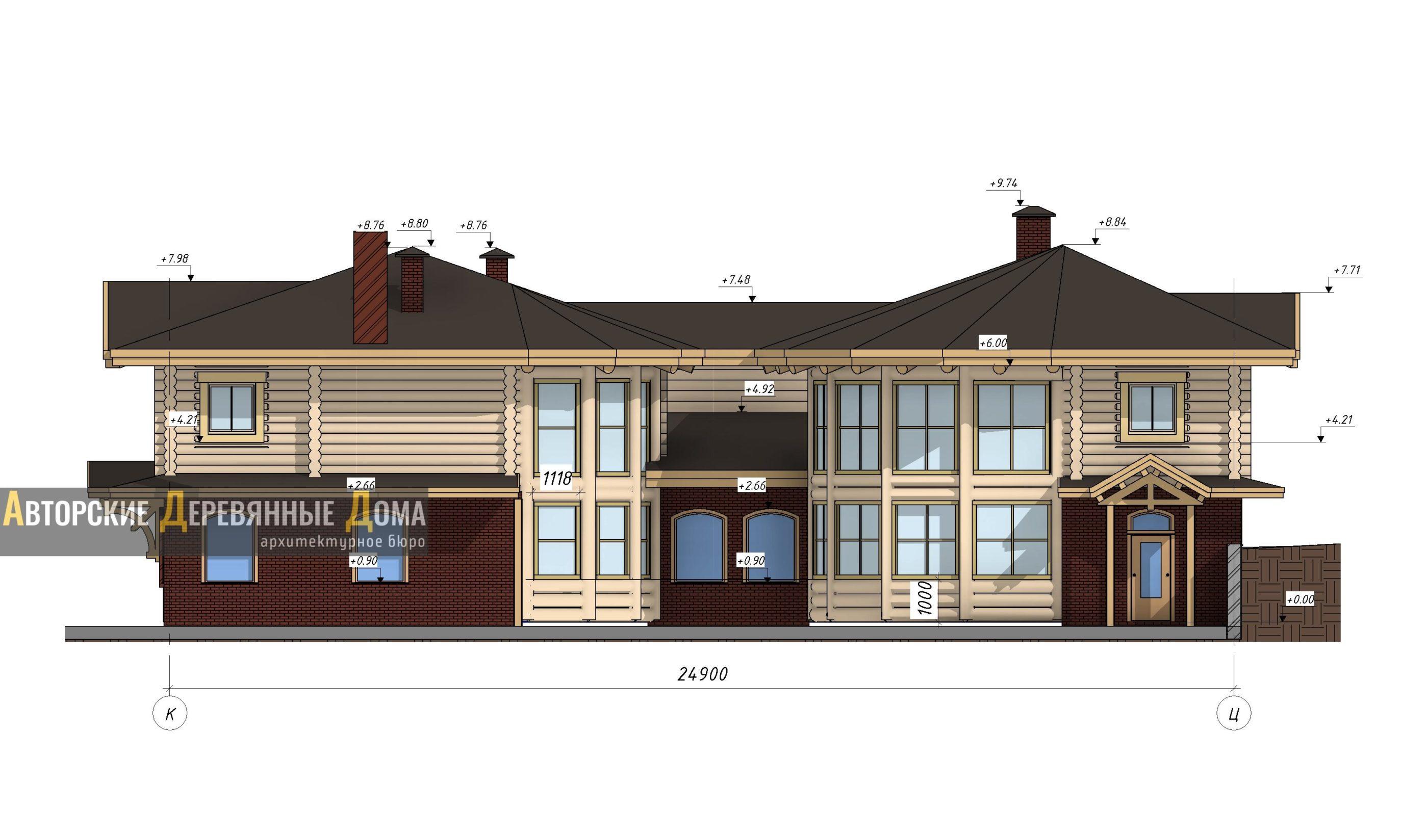 проект строительства центра реабилитации. Фасад 1