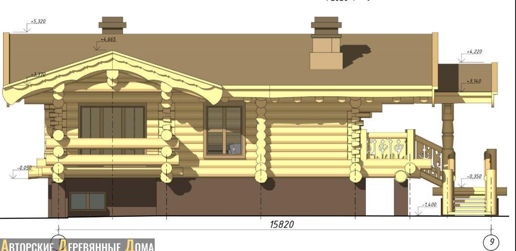 гостевой дом, фасад 2