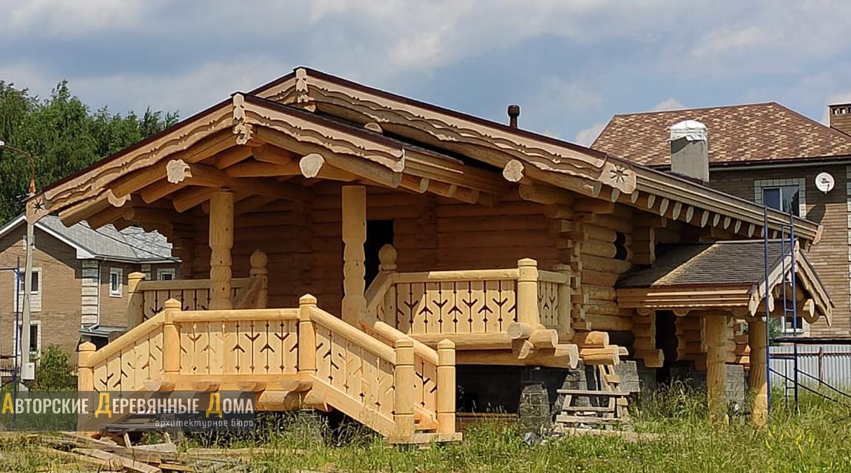 фото строительства комбинированного дома