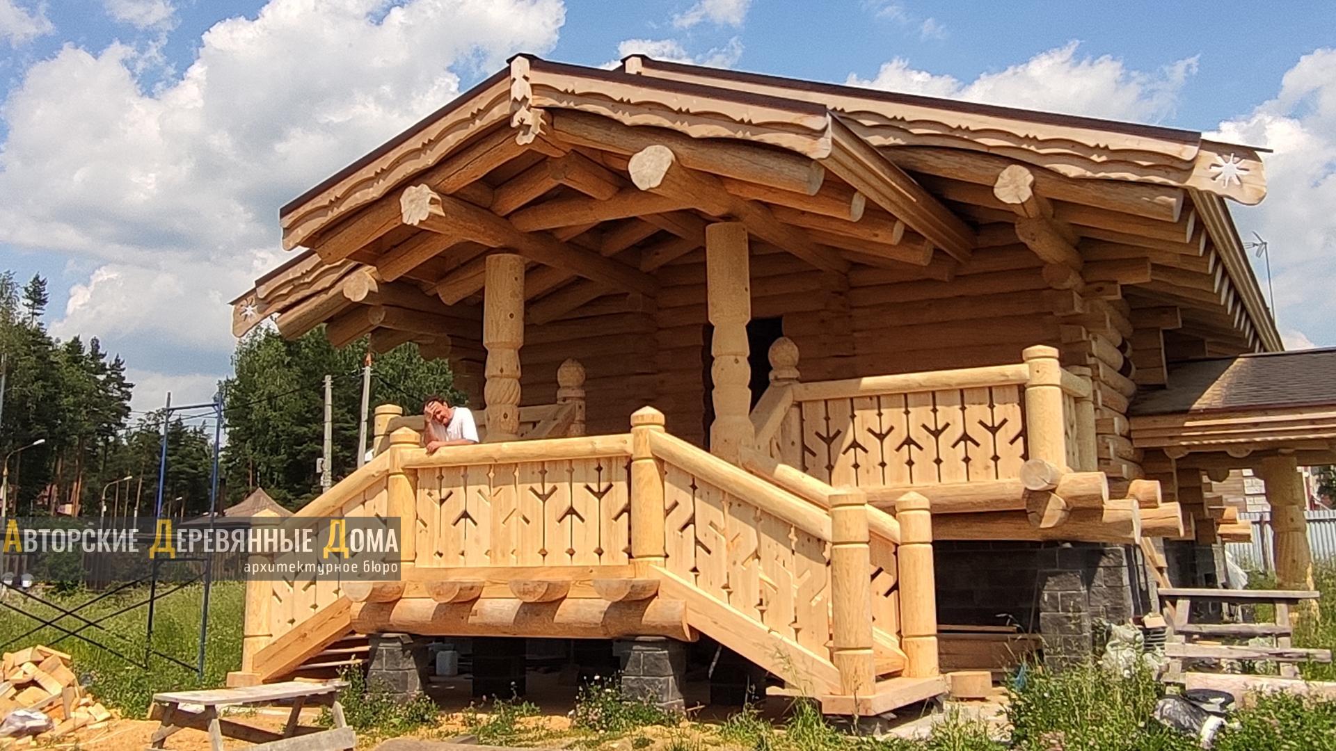 фото строительства комбинированного дома, 2