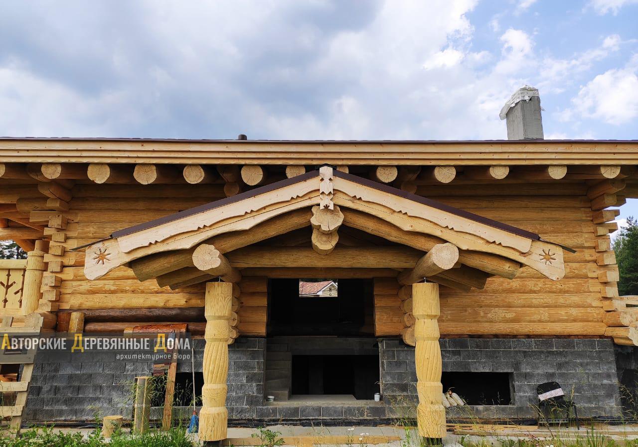 фото строительства комбинированного дома, 3